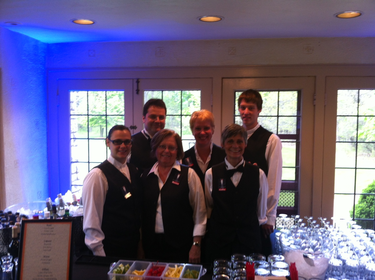 Our Servers and Bartenders are ready to work!